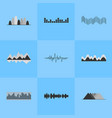 music equalizer interface set of nine icons vector image vector image