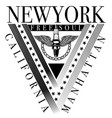 new york sport typography t-shirt graphics vector image