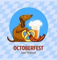 octoberfest beer festival concept background vector image