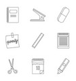 office tools icon set outline style vector image vector image