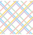 pale color checkered pattern seamless pattern vector image