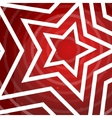 Paper star on the red power background for vector image