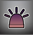police single sign violet gradient icon vector image