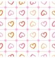polka heart vector image vector image