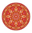red mandala vector image
