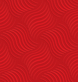 Red striped wavy squares in turn vector image vector image