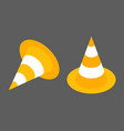 road cones isometrisk flat design element icon vector image