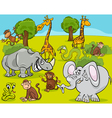 safari animals cartoon vector image