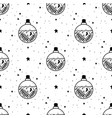 seamless pattern mystical poison with moon vector image