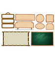 set empty board vector image