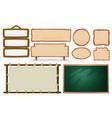 set of empty board vector image