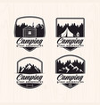 set of summer camp logo vector image vector image