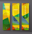 Set of vertical web banners with abstract