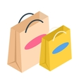 Shopping bags isometric 3d icon vector image vector image