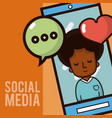 social media smartphone chat vector image