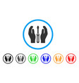 tuning screwdriver care hands rounded icon vector image