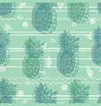 vintage tribal mint green pineapples vector image vector image