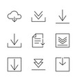 web download icons vector image