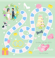 wedding board game template vector image