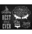 wedding set chalk vector image