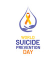world suicide prevention day poster design vector image vector image