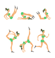 yoga Women studio poster Sketch Girl lifestyle vector image