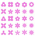 flower simple shape icon set vector image