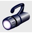 Large hand luminous flashlight closeup vector image
