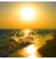 Sunset on the sea vector image