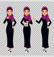 arab business woman character in different poses vector image