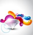 colorful stylish diamond vector image