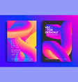 abstract modern poster layout with vibrant shape vector image