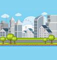 an urban building landscape vector image vector image