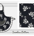 Apron White Flowers On Dark vector image vector image