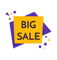big sale banner this weekend special offer vector image vector image