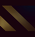 black background with golden lines vector image vector image