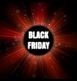 black friday red burst poster eps 10 vector image vector image