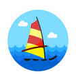 board windsurfing icon summer vacation vector image vector image