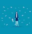 businesswoman catch money business financial vector image vector image