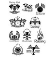 car races or sport motor racing club icons vector image vector image