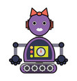 cartoon robot design vector image