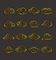 chinese clouds icon set vector image vector image