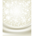 christmas background with white silk vector image vector image