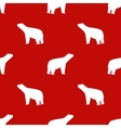 Christmas seamless pattern Polar bear on a red vector image