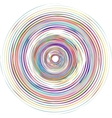 Color spiral vector image vector image