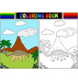 Coloring book with ankylosaurs cartoon