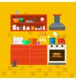Cooking tools and kitchenware vector image