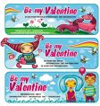 Cute banners for valentines day vector | Price: 3 Credits (USD $3)