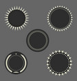 dark round seal frames set vector image
