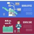 Dental office and care templates vector image vector image
